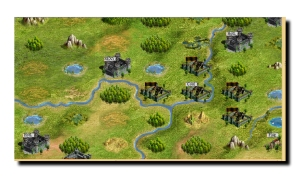 Evony game screen at map level